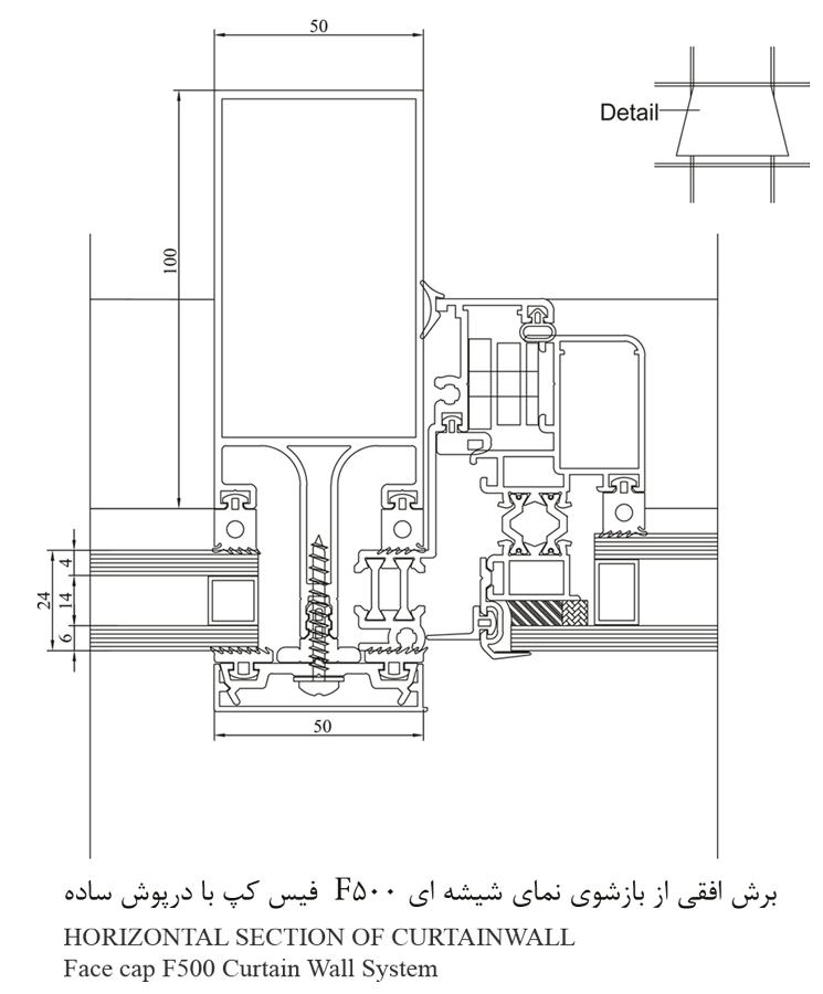 دیتایل نمای شیشه ای f500 face cap (1)