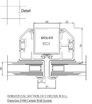نمای شیشه ای F400